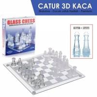 3D Glass Chess Shot Glass Chess Catur Kaca 3D Catur Premium