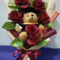 buket bunga+boneka+coklat
