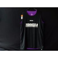 Jersey Basket Atasan Indonesia Hitam Ungu