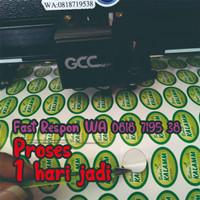 Cetak sticker Label makanan A3 Vinyl