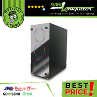 CUBE GAMING POMONA - ATX SIZE - FRONT TEMPERED GLASS (MIRROR COATING) - SIDE TEMPERED GLASS - PSU COVER - FREE 3PCS AUTOFLOW INNER RAINBOW RGB FAN