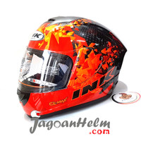 INK Helm CL MAX #6 | RED FLUO | CLMAX FULL FACE Original
