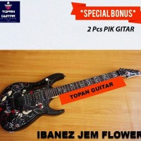 Gitar Listrik / Elektrik Ibanez JEM Flower Special Custom