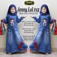 gamis anak jeans wash jenny lol 12 free jilbab dan tas