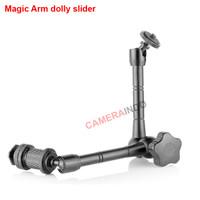 Magic Arm dolly slider for Flash DLSR LED Mirrorless Articulating arm