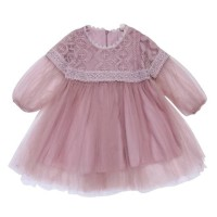 dress bayi perempuan princess arabian lace tutu peach cantik
