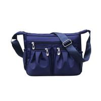 Tas Selempang Nylon Wanita Banyak Resleting / Shoulder Bag - DX503