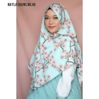 Khimar Nayla Motif Bunga (Hijab Instan Wolvis / Wollpeach / Wolfis)