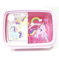 Unicorn Tempat Kotak Makan Bekal BPA Free + Sendok Anak Laki Perempuan