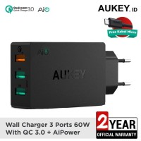 Aukey Charger 3 Port USB Quick Charge 3.0 Fast Charging PA-T14