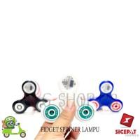 FIDGET SPINNER LIGHT UP LED MOTIF HAND SPINNER TOYS LAMPU LED VARIASI