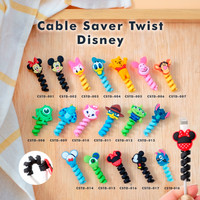 Cable Saver Twist / Pelindung Ujung Kabel Android Apple - DISNEY
