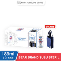 BEAR BRAND Special On Pack 189ml [10 Kaleng] Gratis Bag Bear Brand