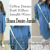 Hem Long Denim Syanaz / Tunik Long Denim Syanaz / Kemeja Wanita Trendy