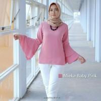 MIEKE BABY PINK BLOUSE | BAJU ATASAN WANITA | BLOUSE WANITA MUSLIM