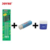 Pencil / Pensil Joyko P-88/2B/12PCS + Eraser ER-30W + Sharpener B-24