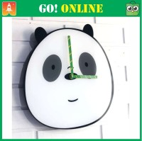 Jam Dinding Akrilik Model Panda We Bare Bears Size 30 Cm