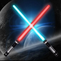 pedang mainan double blade bladed lightsaber star wars
