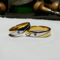 cincin kawin nikah tunangan pasangan emas palladium perak