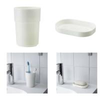 ENUDDEN 1 set isi 2 Tempat mug sikat gigi dan tempat sabun batang kama