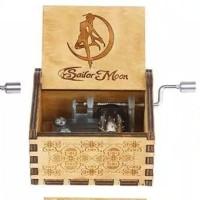 Kotak Musik Sailor Moon Wooden Music Box Kado Ultah Unik