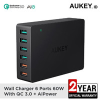 Aukey Charger 6 Port USB Quick Charge 3.0 ORIGINAL PA-T11