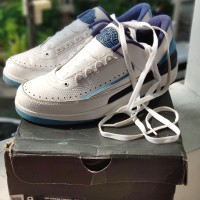 Air Jordan 2 Retro Low University Blue UNC Size 9 AJ Two not Nike