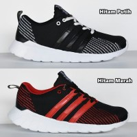 Sepatu Sport Adidas Questar Flow Sneaker Running Casual Pria Hitam - H