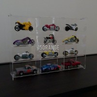 Acrylic Display Case / Rak Display Akrilik 3x4 Tomica Hot Wheels