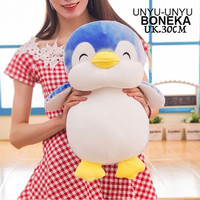 Boneka pinguin 30cm soft lembut banget pingin animal miniso