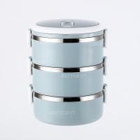 LUNCH BOX SET/RANTANG SUSUN 3 STAINLESS STEEL/TEMPAT MAKAN ( BIRU )