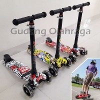 21 Kickboard Scooter MOTIF - Skuter Anak / Otoped Anak Roda 3
