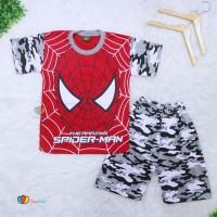 Setelan Pendek Superhero Uk 9 10 Tahun Kaos Anak Laki Cowok Celana Pe