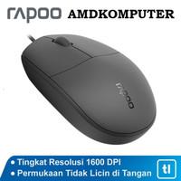 Mouse Office Rapoo N100 Original Garansi Resmi - Hitam