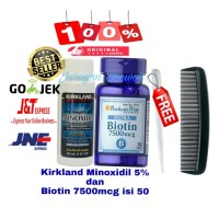 Paket Penumbuh Rambut, Brewok, Dgn Kirkland Minoxidil & Biotin