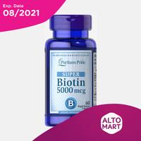 Puritan Biotin 5000 mcg (60 Capsules)