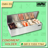 Tempat Bumbu dan Topping Buah Condiment Holder Stainless Steel CMH-5S