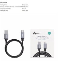 [Kabel Data] Aukey USB Type C to USB 3.0 Cable With Braided Nylon