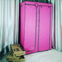 NINE BOX Lemari Pakaian Multifungsi dengan 5 ruang baju lipat,1 ruang