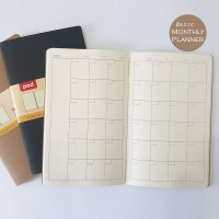 Softcover Basic Monthly Planner Journal Bullet Journal Bujo Notebook A