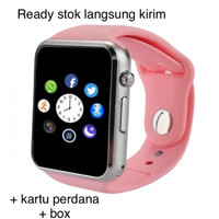 jam tangan a1 smartwatch hp android smart watch anak digital pink
