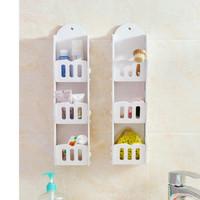 Rak kosmetik Rak Dinding Storage Serbaguna 3 Kotak