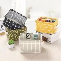 Geometric Desktop Storage Box Kotak Penyimpanan Kanvas Nordic Style