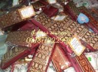 Souvenir Pernikahan Tas Yasin/Kantong Serut Besar+Plastik+Kartu Ucapan