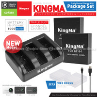 KingMa Paket Complete Battery Charger Set for Xiaomi Yi 4K PLUS & LITE