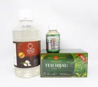 Paket Keto 3In1 Immunator Honey Vico Bagoes 1Lt Teh Hijau Celup