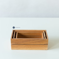 Rosa Wooden Crate (Set of 3) / Wooden Storage Box / Functional