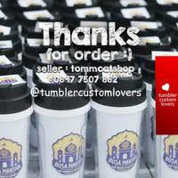 Tumbler botol minum custom / your design / souvenir / promosi