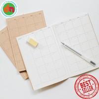 Simple Basic Monthly Planner A5 Buku Perencanaan dan Catatan Bulanan