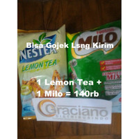 Nestea Lemon Tea 1kg + Milo Complete Mix Profesional 960gr Nestle
